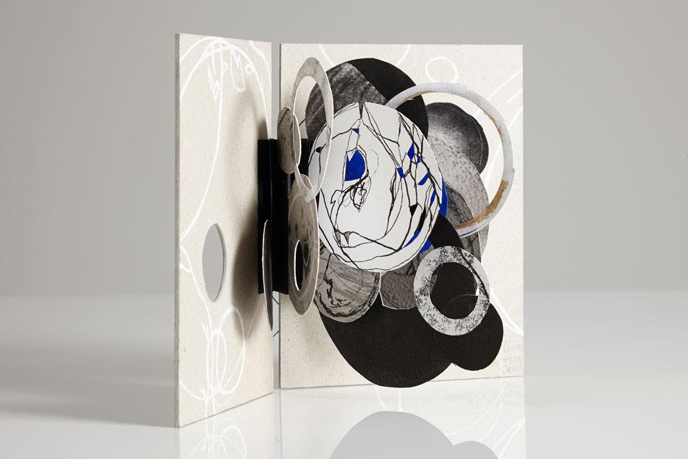 Jennifer Bruce, Inner Circles (2014) - Mixed media, unique, 16 x 22 cm open, £125