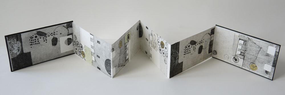 Susie Wilson, Restoration (2015) - Collagraph, edition of 2, 8 x 60 cm open, £65